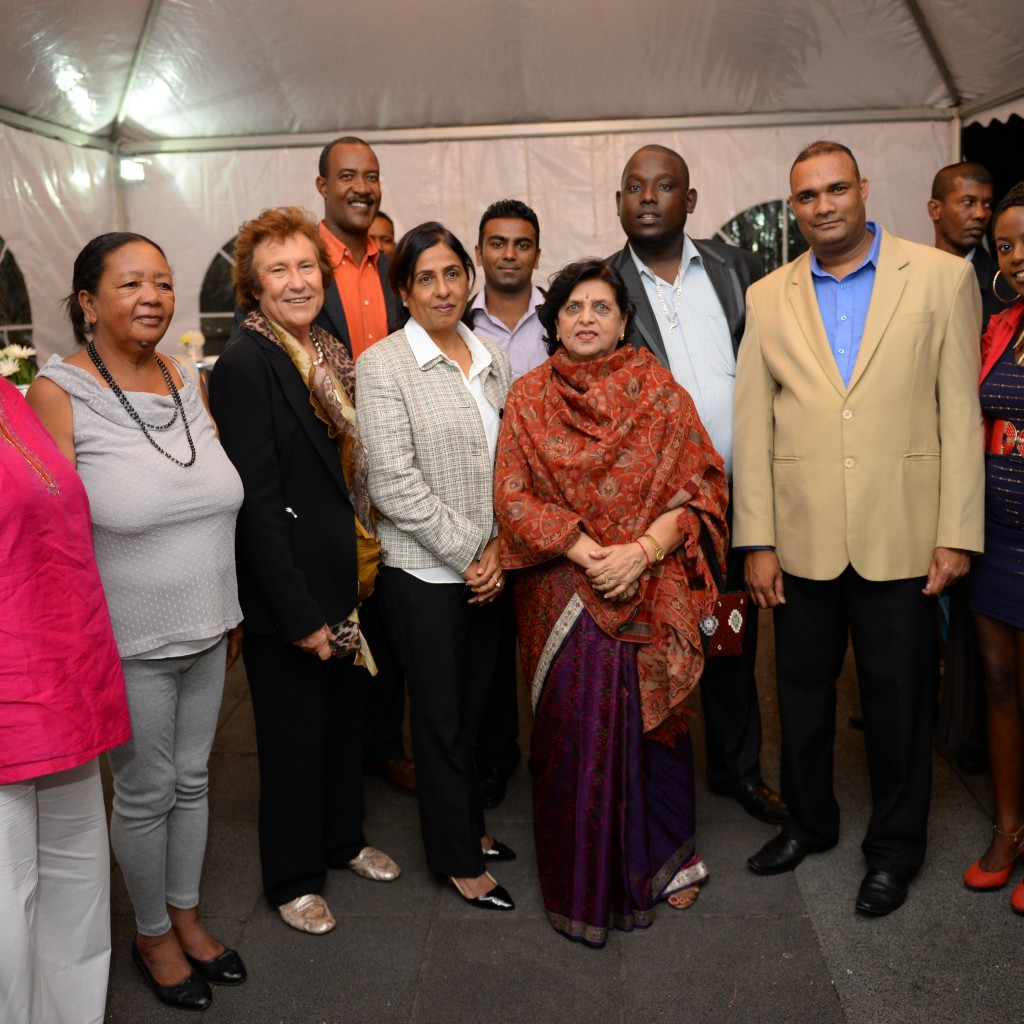 The team of KRN with the first Lady and Honourable Fazila Daureeawoo Sophie Le Chartier – Programme Coordinating officer Nicole Papeche – Secretary  Geneviève Tyack – President  Daniel Patate – Assistant Secretary  Roy Sokoo – Assistant Treasurer Jean Rudolph Laboudeuse – Vice president  Steeve Lebrass – Treasurer Jasmine Toulouse – Member KRN  Absent: Pamela Patate and Linda Perrine