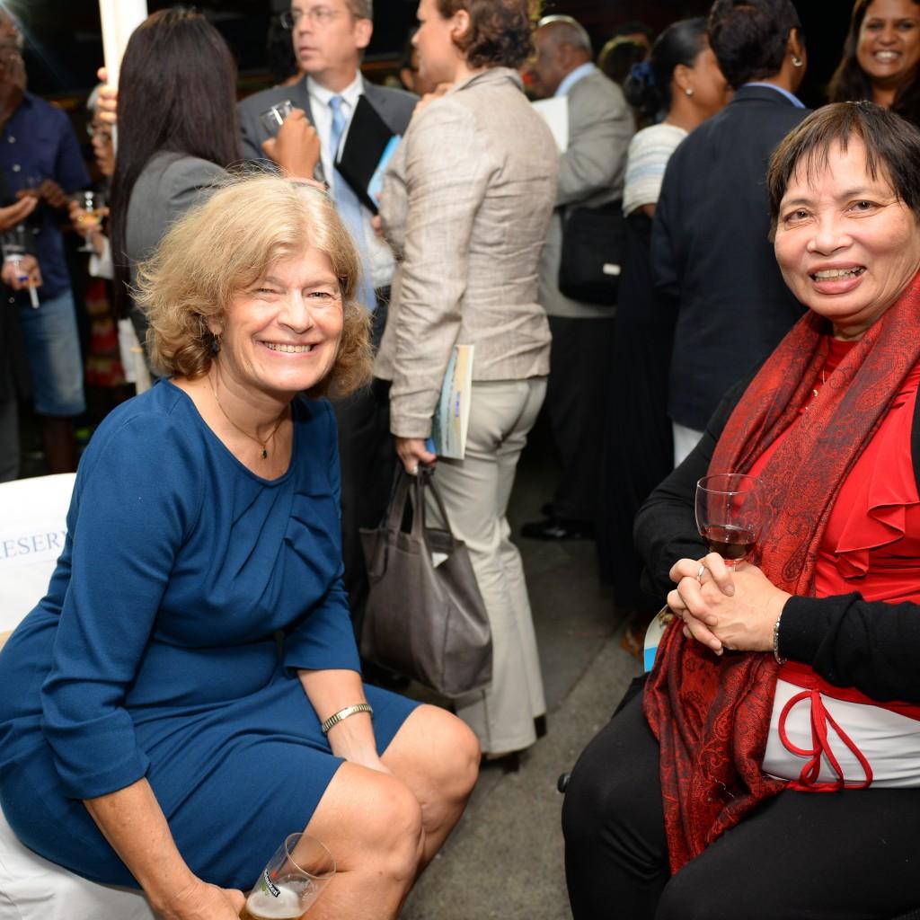Her Excellency Shari Villarosa, US Ambassador and Danielle Wong, President NCSR Committee